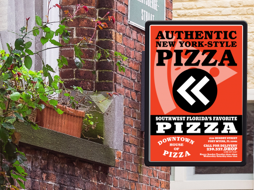 Downtown House of Pizza Signage